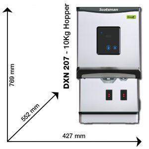 Scotsman DXN 207 Dimensions