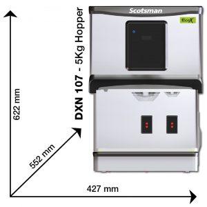 Scotsman DXN 107 Dimensions
